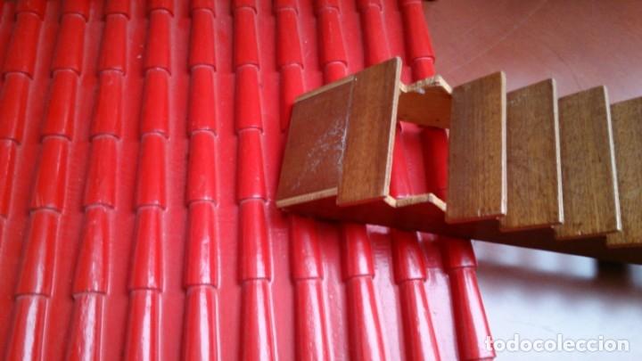 Casas de Muñecas: Gran casa de muñecas fabricada a mano en los años 70 - Foto 11 - 131490058