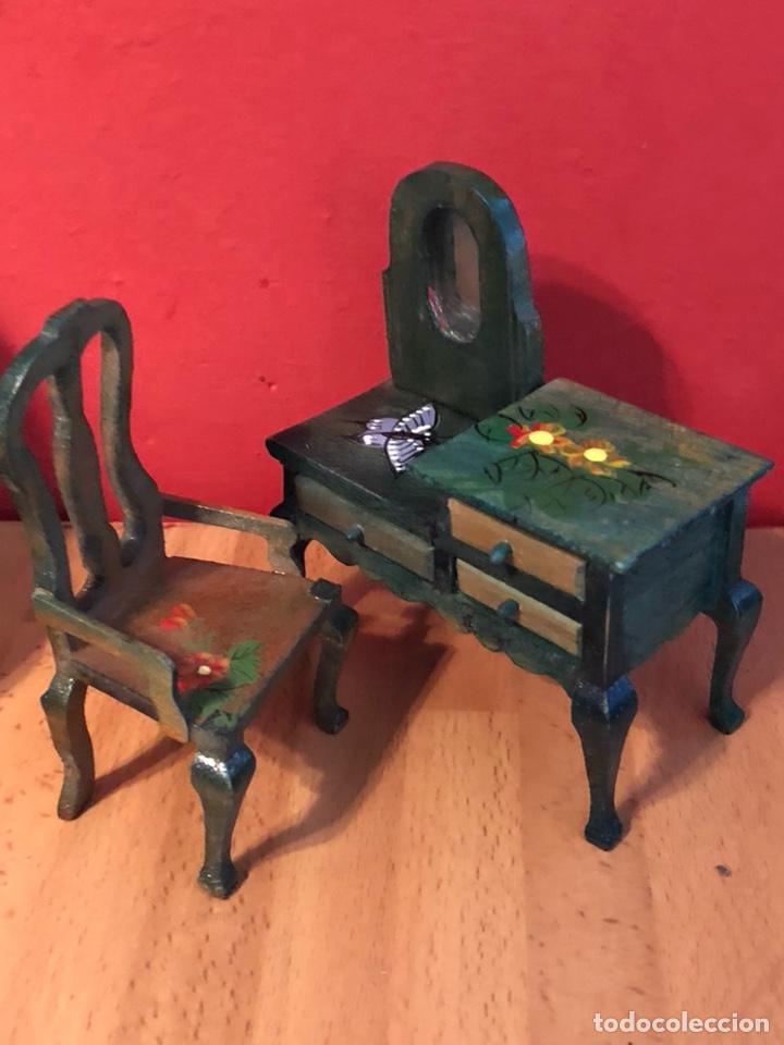 Espejo Y Verde Art De Juego A Deco Juguete Tocador Madera Con Silla Flores qSLzMUVpG
