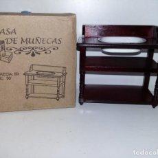 Casas de Muñecas: MUEBLE DE BAÑO LAVABO EN MADERA CEREZO DE COLECCION ANTIGUA CASA DE MUÑECAS ESTILO ANDALUZA ALTAYA. Lote 133417590
