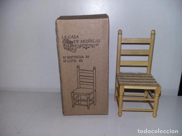 SILLA ANDALUZA SEVILLANA MADERA NATURAL DE COLECCION ANTIGUA CASA DE MUÑECAS ESTILO ANDALUZA ALTAYA (Juguetes - Casas de Muñecas, mobiliarios y complementos)