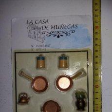 Casas de Muñecas: LOTE DE ACCESORIOS O UTENSILIOS DE COCINA COLECCIÓN ANTIGUA CASA DE MUÑECAS ESTILO ANDALUZA ALTAYA . Lote 133545706
