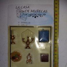 Casas de Muñecas: ACCESORIOS UTENSILIOS DE SALÓN COMEDOR DE COLECCIÓN ANTIGUA CASA DE MUÑECAS ESTILO ANDALUZA ALTAYA . Lote 133545798