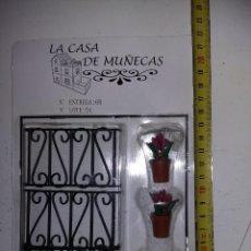Casas de Muñecas: PLANTAS Y REJAS DE VENTANAS HIERRO FORJA DE COLECCION ANTIGUA CASA DE MUÑECAS ESTILO ANDALUZA ALTAYA. Lote 133545982