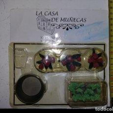 Casas de Muñecas: LOTE PLANTAS Y VERDURAS BARREÑO METAL DE COLECCION ANTIGUA CASA DE MUÑECAS ESTILO ANDALUZA ALTAYA . Lote 133546054