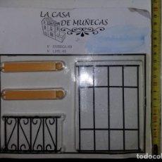 Casas de Muñecas: PILARES REJAS DE VENTANAS HIERRO FORJA DE COLECCIÓN ANTIGUA CASA DE MUÑECAS ESTILO ANDALUZA ALTAYA . Lote 133546126