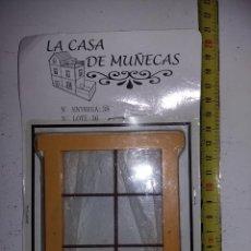 Casas de Muñecas: VENTANA CON CORTINAS Y REJA DE COLECCION ANTIGUA CASA DE MUÑECAS ESTILO ANDALUZA ALTAYA . Lote 133546234