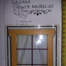 Casas de Muñecas: VENTANA CON CORTINAS Y REJA DE COLECCION ANTIGUA CASA DE MUÑECAS ESTILO ANDALUZA ALTAYA. Lote 133546442