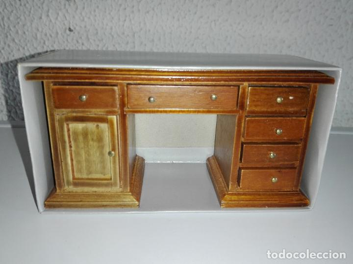 miniatura escritorio de madera casa de muñecas - Kaufen Puppenhäuser ...