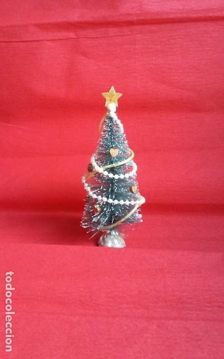 Casas de Muñecas: Árbol de Navidad artesanal en miniatura para casa de muñecas en escala 1/12 - Foto 2 - 135907794
