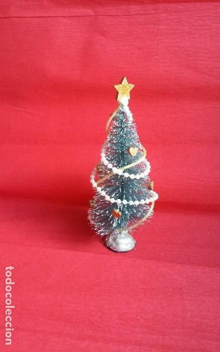 Casas de Muñecas: Árbol de Navidad artesanal en miniatura para casa de muñecas en escala 1/12 - Foto 3 - 135907794