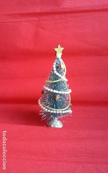 Casas de Muñecas: Árbol de Navidad artesanal en miniatura para casa de muñecas en escala 1/12 - Foto 4 - 135907794