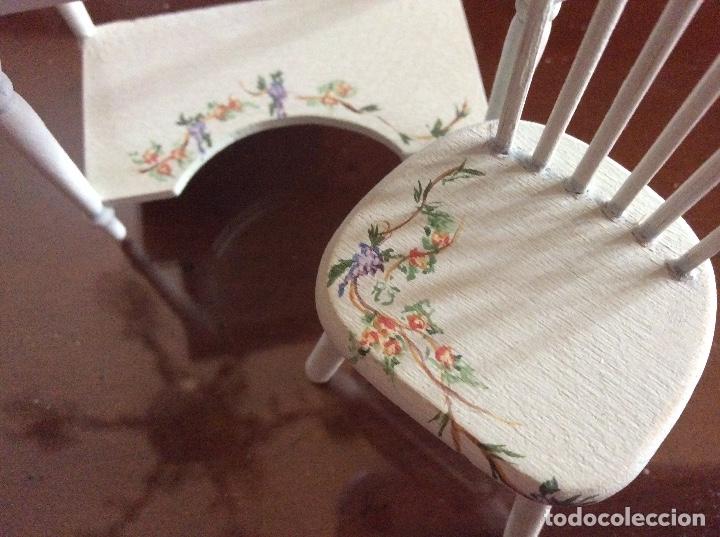 Casas de Muñecas: Mesita con silla escala 1:12 con dibujos a mano de Beatrix potter. - Foto 10 - 136276662