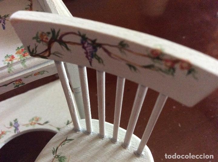 Casas de Muñecas: Mesita con silla escala 1:12 con dibujos a mano de Beatrix potter. - Foto 11 - 136276662