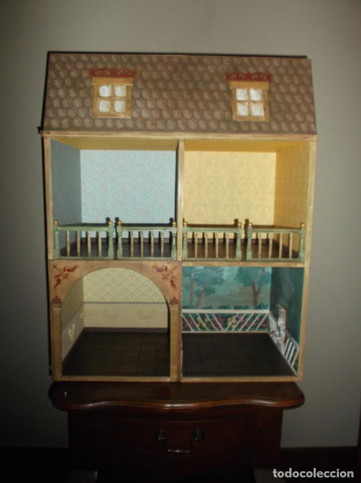 Casas de Muñecas: Casa de muñecas de madera estilo s. XVII, 65 cm, hecha a mano por artista - Foto 2 - 138747990