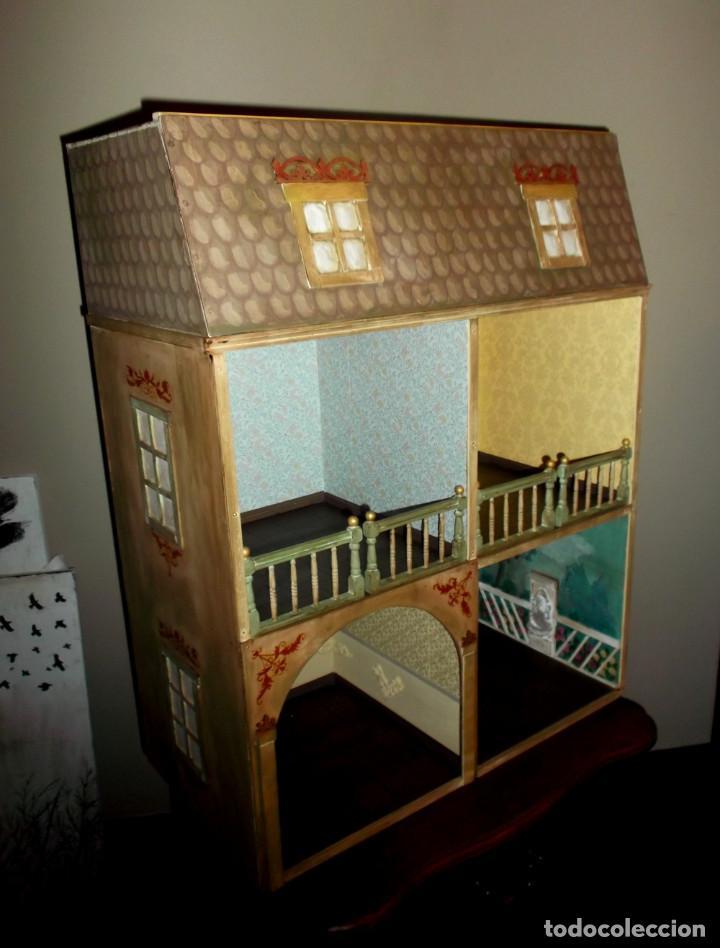 Casas de Muñecas: Casa de muñecas de madera estilo s. XVII, 65 cm, hecha a mano por artista - Foto 3 - 138747990