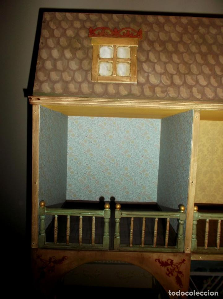 Casas de Muñecas: Casa de muñecas de madera estilo s. XVII, 65 cm, hecha a mano por artista - Foto 4 - 138747990