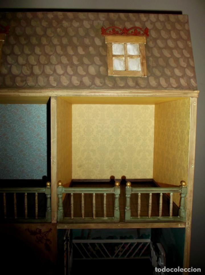 Casas de Muñecas: Casa de muñecas de madera estilo s. XVII, 65 cm, hecha a mano por artista - Foto 5 - 138747990
