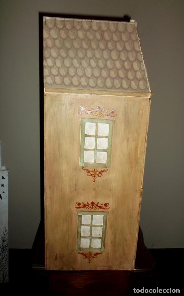 Casas de Muñecas: Casa de muñecas de madera estilo s. XVII, 65 cm, hecha a mano por artista - Foto 6 - 138747990