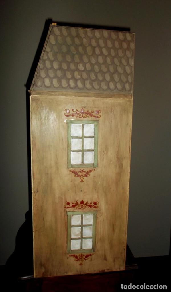 Casas de Muñecas: Casa de muñecas de madera estilo s. XVII, 65 cm, hecha a mano por artista - Foto 7 - 138747990