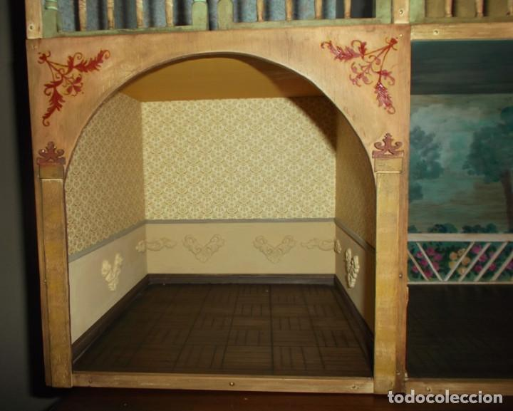 Casas de Muñecas: Casa de muñecas de madera estilo s. XVII, 65 cm, hecha a mano por artista - Foto 8 - 138747990