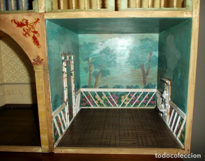 Casas de Muñecas: Casa de muñecas de madera estilo s. XVII, 65 cm, hecha a mano por artista - Foto 9 - 138747990