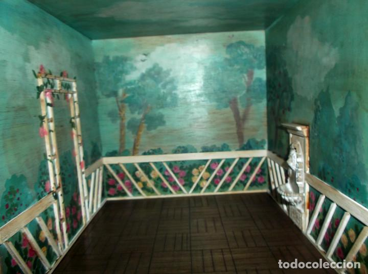 Casas de Muñecas: Casa de muñecas de madera estilo s. XVII, 65 cm, hecha a mano por artista - Foto 10 - 138747990