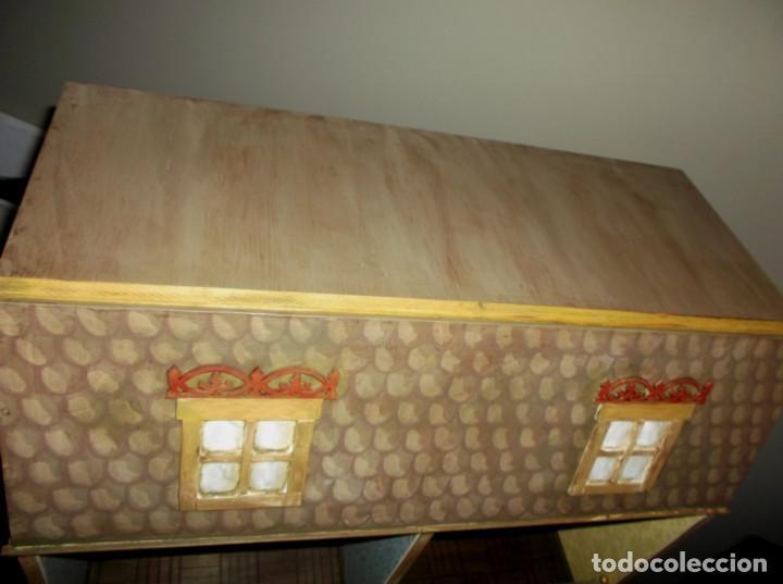 Casas de Muñecas: Casa de muñecas de madera estilo s. XVII, 65 cm, hecha a mano por artista - Foto 11 - 138747990