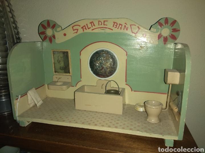antiguo cuarto de baño de juguete para casa de - Comprar ...