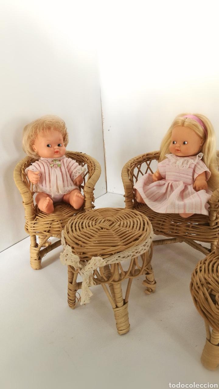 Casas de Muñecas: Muebles mimbre válidos para Barriguita, casa de muñecas, sillas sofa mesa - Foto 2 - 146584654