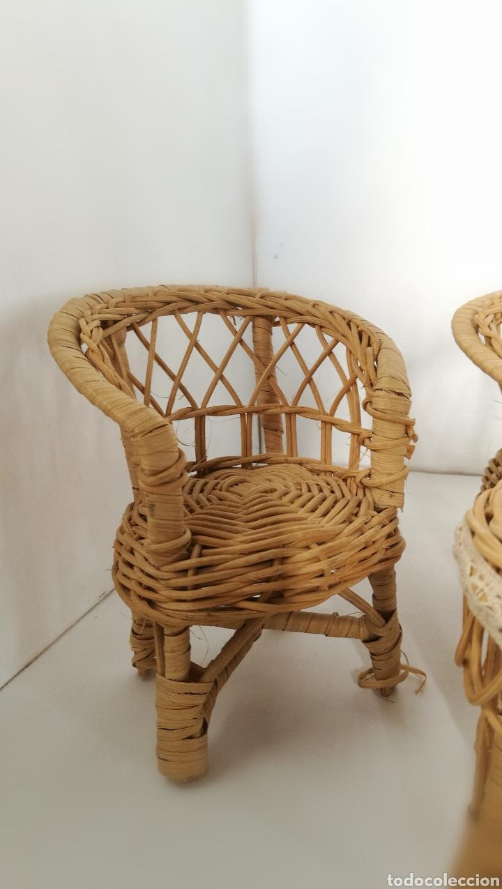 Casas de Muñecas: Muebles mimbre válidos para Barriguita, casa de muñecas, sillas sofa mesa - Foto 5 - 146584654