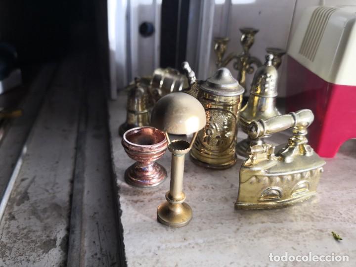Casas de Muñecas: LOTE DE 9 PIEZAS metalicas PARA CASA DE MUÑECAS - Foto 2 - 143213874