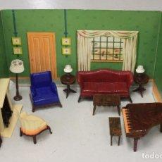 Casas de Muñecas: CASA DE MUÑECAS AMERICANA RENWALL CON ESCENARIOS EN CARTON. AÑOS 40-50. Lote 148914986