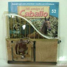 Casas de Muñecas: MI AMIGO EL CABALLO-PUERTA VALLA REJA SILLA MON-PLANETA DE AGOSTINI 2002-CASA MUÑECAS CUADRA ESTABLO. Lote 150160602
