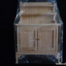 Doll houses - MUEBLE APARADOR EN MADERA NATURAL PARA CASITAS DE MUÑECAS - 151715706