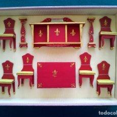 Casas de Muñecas: JUEGO DE MUEBLES DE COMEDOR - AÑOS 60 - EN CAJA EXPOSITOR. Lote 151982974