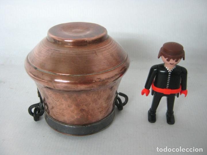 Casas de Muñecas: Caldero antiguo de cobre batido miniatura casa de muñecas - Foto 2 - 154544510