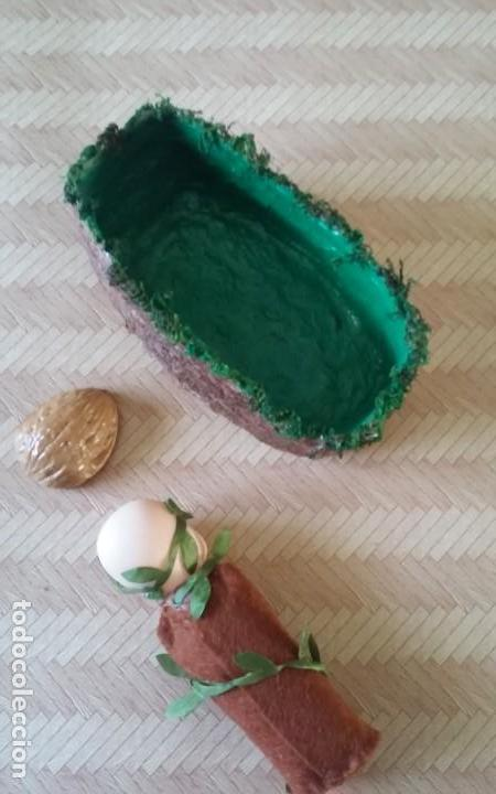 Casas de Muñecas: Preciosa muñeca o bebé, hada del bosque, en su cuna, artesanal - Foto 9 - 156614982