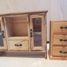 Doll houses - DOS MUEBLES EN MINIATURA HECHOS A MANO - 159251346