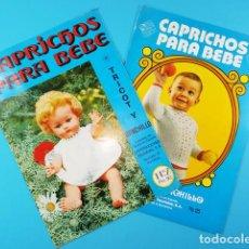 Casas de Muñecas: REVISTA CAPRICHOS PARA BEBE Nº 2 Y 3 1976 TRICOT Y GANCHILLO PARA MUÑECAS Y BEBES 16 PAGINAS. Lote 160395350