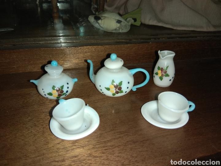 JUEGO DE CAFÉ O TÉ DE PORCELANA - CASA DE MUÑECAS - (Juguetes - Casas de Muñecas, mobiliarios y complementos)