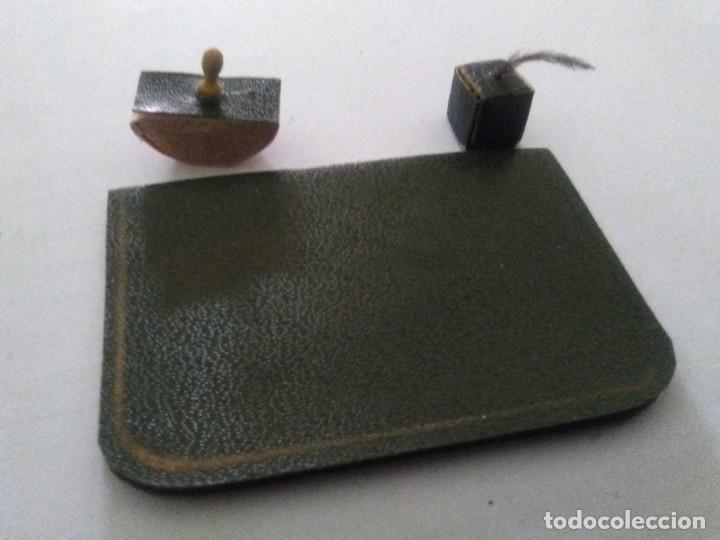 JUEGO DE ESCRITORIO VICTORIANO CASA MUÑECAS ESCALA 1:12 (Juguetes - Casas de Muñecas, mobiliarios y complementos)