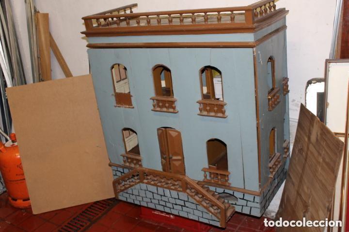 FANTÁSTICA CASA DE MUÑECAS S. XX (Juguetes - Casas de Muñecas, mobiliarios y complementos)