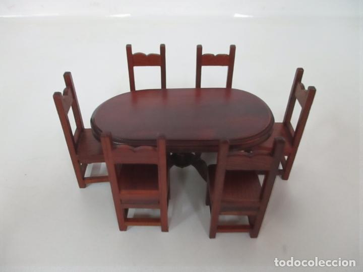 Casas de Muñecas: Mesa de Comedor y 6 Sillas Miniatura - Madera - Casa de Muñecas - Todo Tipo de Detalles - Foto 13 - 166299986