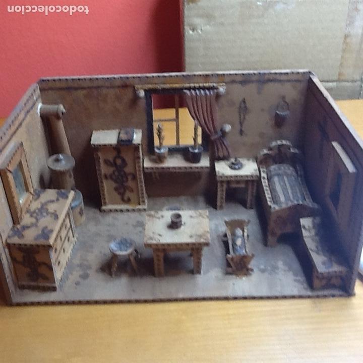 CASITA DE MUÑECAS MUY ANTIGUA (Juguetes - Casas de Muñecas, mobiliarios y complementos)