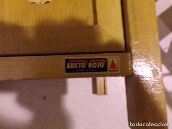 Casas de Muñecas: precioso conjunto dormitorio muñeca abeto rojo cuna armario buen estado tocador espejo - Foto 11 - 169000392
