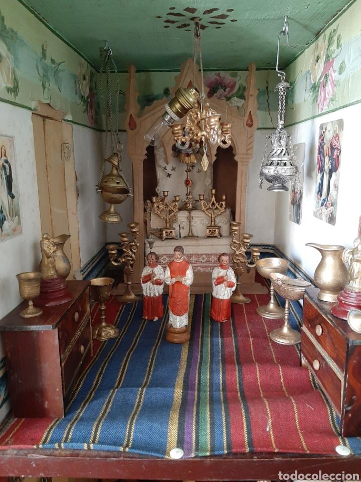 Casas de Muñecas: Importante casa de muñecas en madera policromada, 8 estancias. Adaptada a la luz eléctrica. S. XIX. - Foto 19 - 169337600