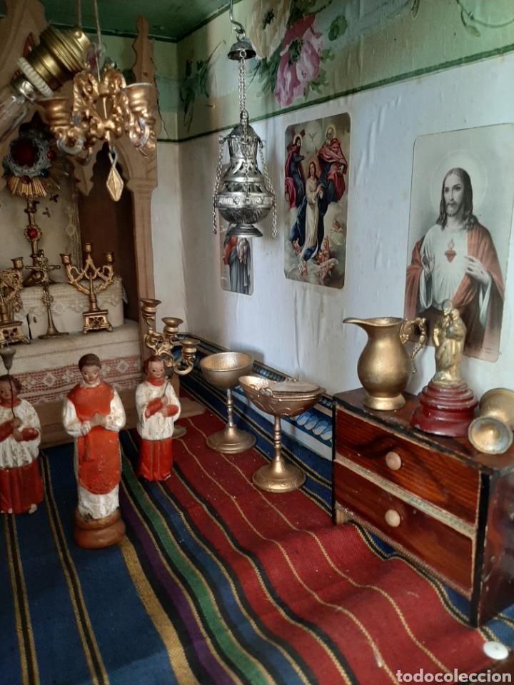 Casas de Muñecas: Importante casa de muñecas en madera policromada, 8 estancias. Adaptada a la luz eléctrica. S. XIX. - Foto 20 - 169337600