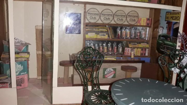Casas de Muñecas: Diorama Artesanal de La Bodeguita del Medio de Cuba - Foto 4 - 171704823