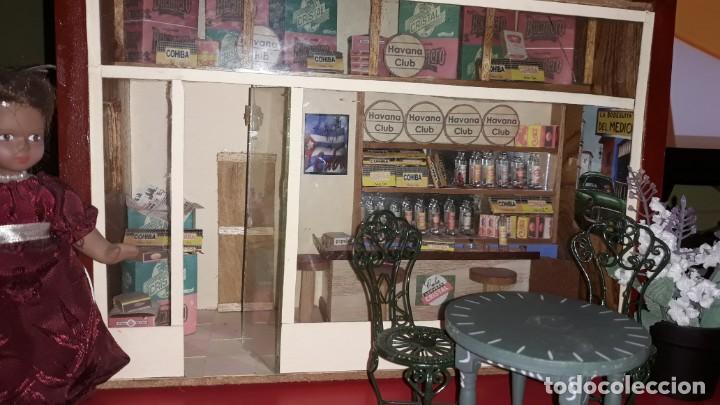 Casas de Muñecas: Diorama Artesanal de La Bodeguita del Medio de Cuba - Foto 5 - 171704823