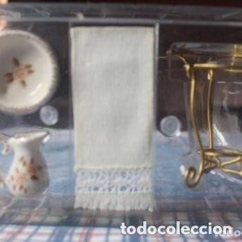 Casas de Muñecas: mueble para lavarse la cara estilo victoriano en miniatura - Foto 5 - 171788418